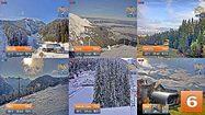 Пирин времето уеб камери 'Бъндеришка поляна', 'Шилигарник', 'Платото' и 'Чалин валог' лифт станции ски писти над Банско ТВ TV Free-WebCamBG
