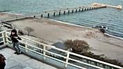 Бургас времето уеб камера 'Централен' плаж брегова ивица и мост Черно море от Културен Център 'Морско казино' Free-WebCamBG