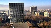 Sofia weather Webcam quarter 'Lozenets', NDK, Hotel 'Kempinski', Hotel 'Hemus', Hotel 'Lozenets', Hotel 'Hilton', Shopping Mall 'City Center Sofia' Free-WebCamBG