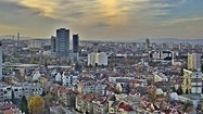Sofia weather Webcam traffic boulevard 'Tsarigradsko Shosse', 4th kilometer panorama, quarter jk 'Mladost' Mall 'The Mall' Free-WebCamBG