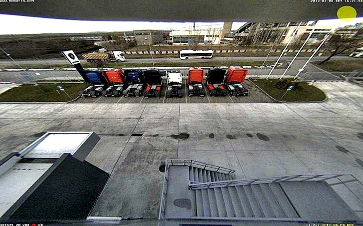 Бургас времето уеб камера Северна индустриална зона, трафик улица 'Одрин', промишлена зона 'Север', дилър магазин и сервиз 'Скания' Free-WebCamBG