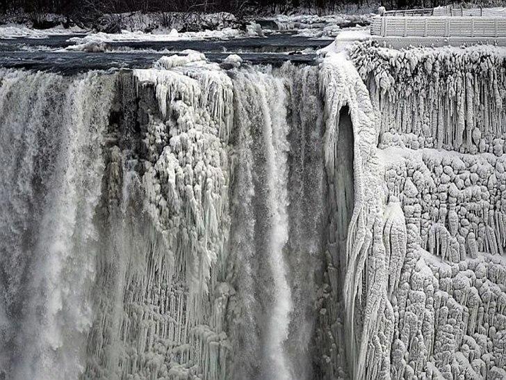 Ниагарски водопад (09.януари.2014 г.) замръзна - за последно напълно е замръзнал през 1936 г. Free-WebCamBG