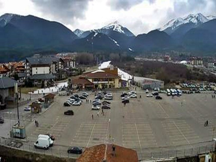 Банско (14.януари.2014 г.) времето уеб камера Център кабинков ски лифт 'Гондола' и Пирин планина Free-WebCamBG