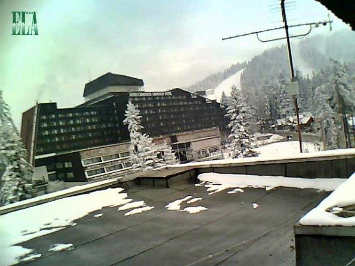 Боровец (28.януари.2014 г.) времето уеб камера панорама от хотел 'Ела'*** Център хотел 'Самоков' курорт станция на ски лифт Рила планина Free-WebCamBG