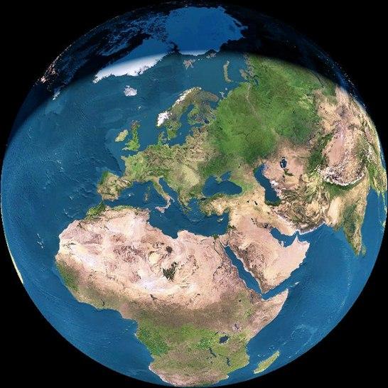 Blgariya Ueb Kamera Ot Kosmosa Zemya Den Nosh