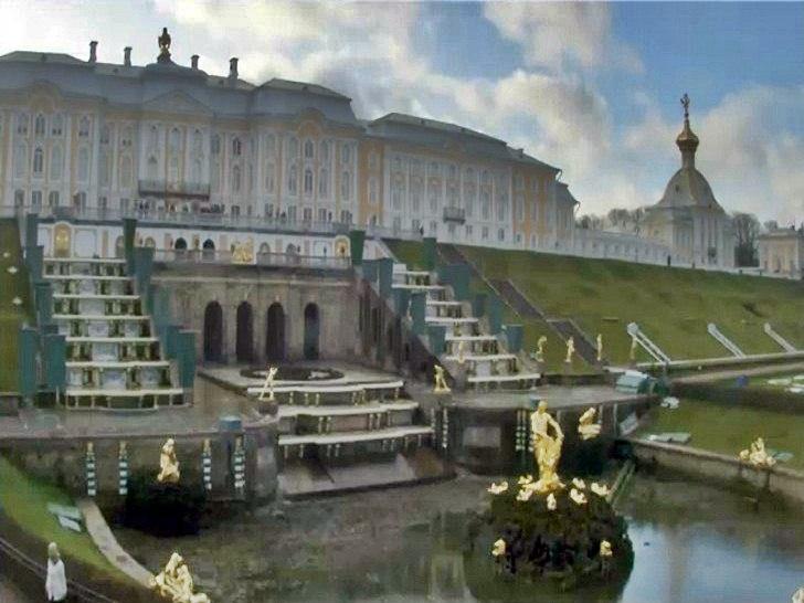 Санкт Петербург времето уеб камера каскаден фонтан дворец музей 'Петерхоф' Русия Free-WebCamBG